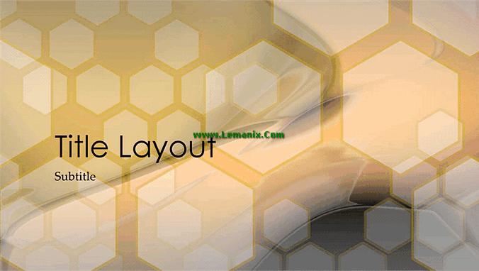 Hexagonal Powerpoint Themes Design