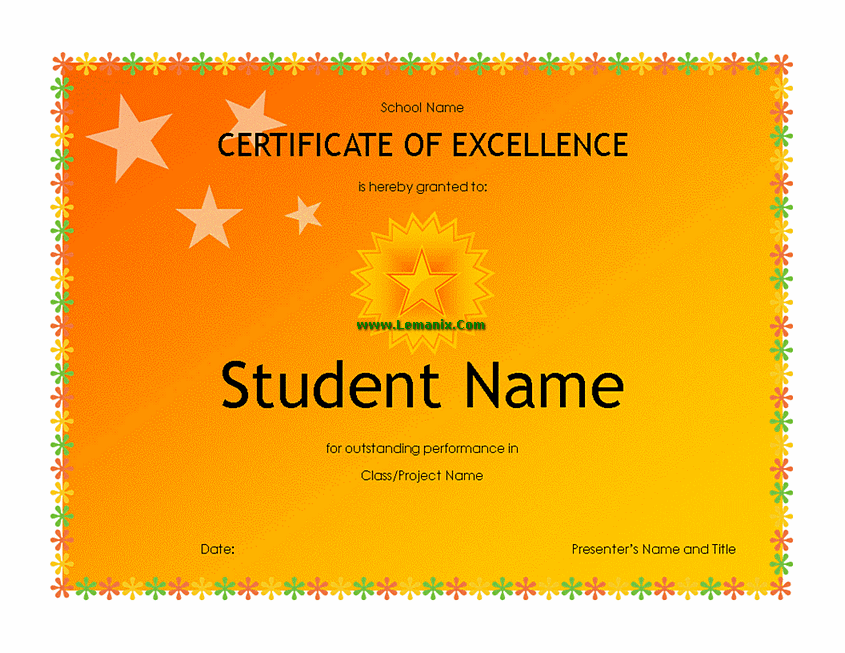 High School Student Award Microsoft Publisher Templates For