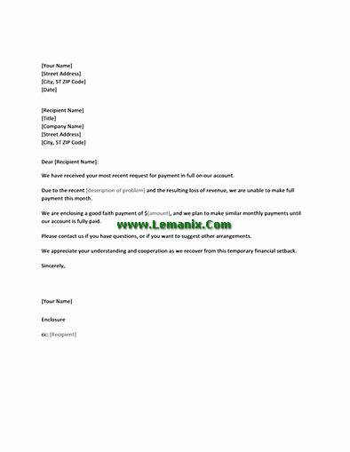 Payment plan letter to customer geccetackletarts payment spiritdancerdesigns Gallery