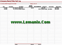 Petty Cash Log Microsoft Excel Templates