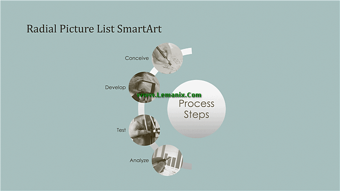 Process Smartart Free Powerpoint Backgrounds