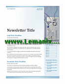 Publisher Templates Newsletter In Blue Themes