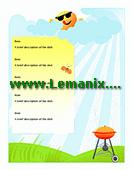 Summer Barbeque Menu Microsoft Publisher Templates