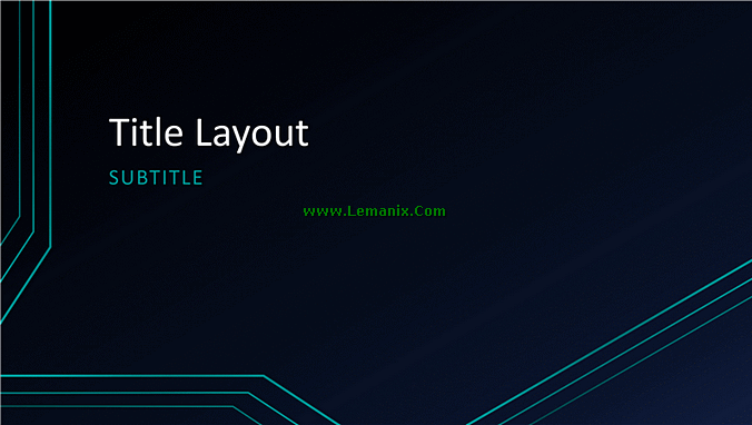Triple Lines Powerpoint Themes