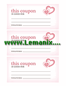 Valentine's Day Coupons Microsoft Publisher Templates