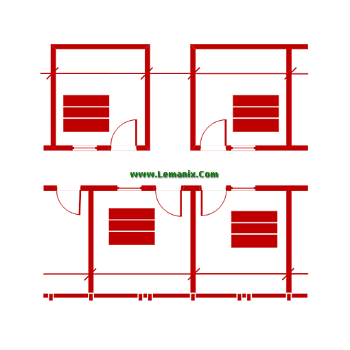 Visio Shapes Floor Plan Stencils for Visio 2013 or newer Software