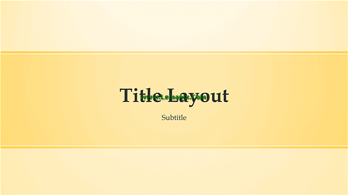 Yellow Design Powerpoint Themes