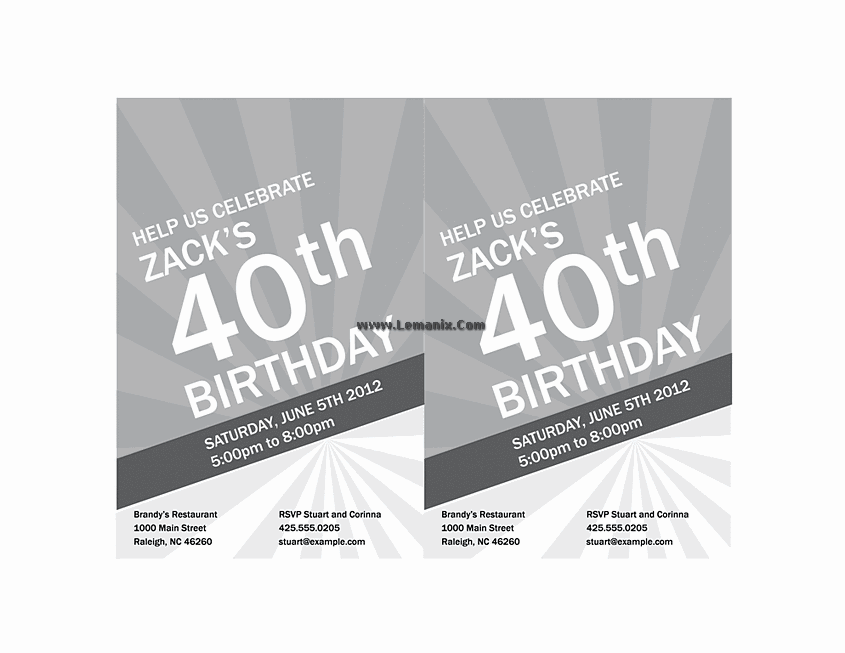 Birthday Invitation Powerpoint Themes 01