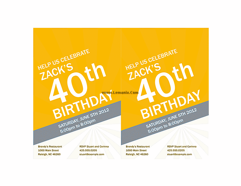 Birthday Invitation Powerpoint Themes 02