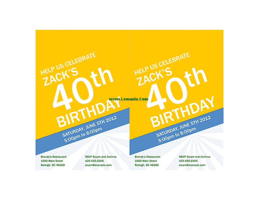 Birthday Invitation Powerpoint Themes 03