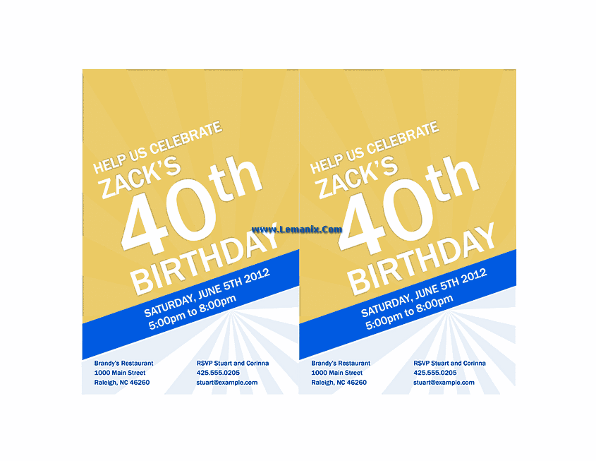 Birthday Invitation Powerpoint Themes 04