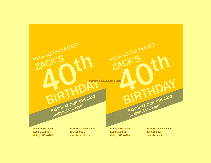 Birthday Invitation Powerpoint Themes 05
