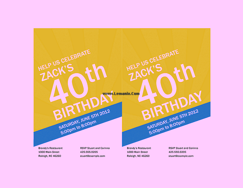 Birthday Invitation Powerpoint Themes 06