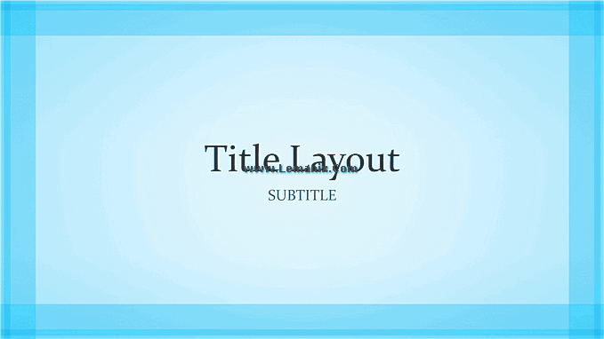 Blue Border Powerpoint Themes 04