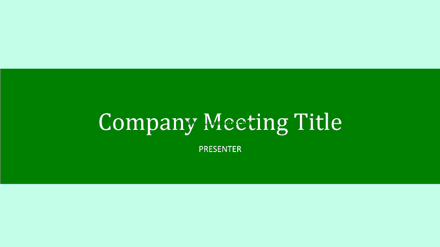 Company Meeting Powerpoint Themes 03