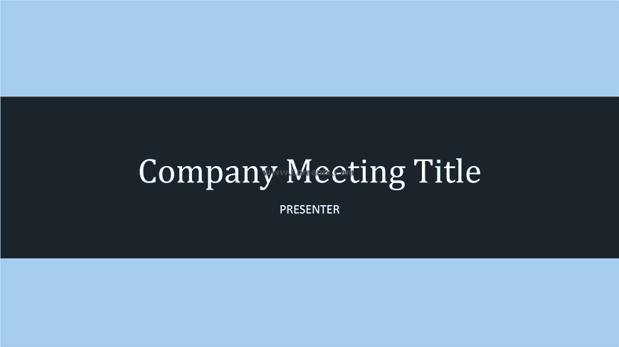 Company Meeting Powerpoint Themes 04