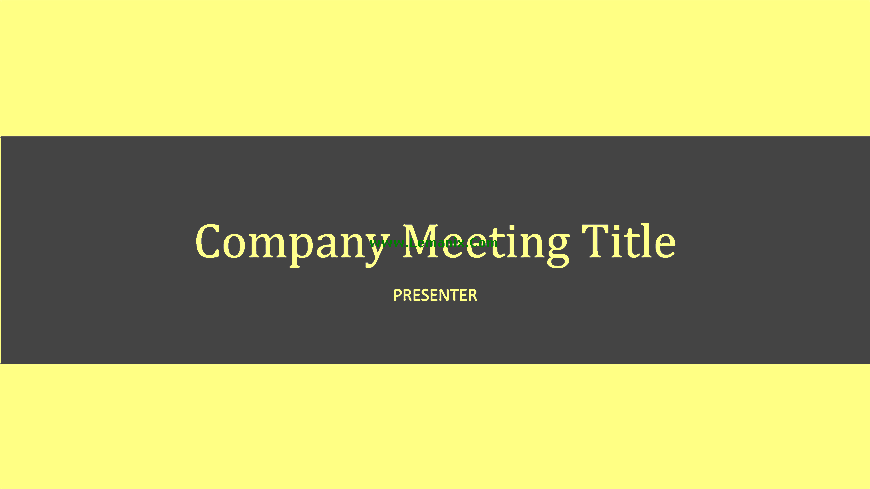 Company Meeting Powerpoint Themes 05