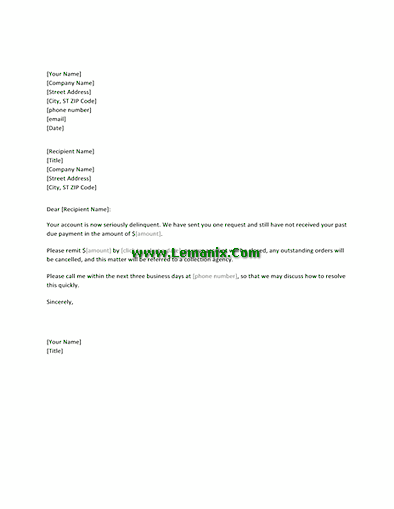 Final Request Letter Templates For Overdue Payment 03
