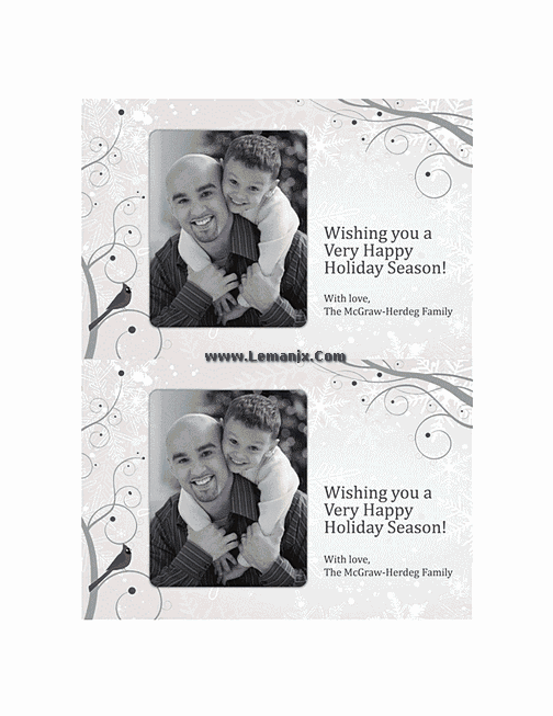 Free Holiday Photo Cards 01