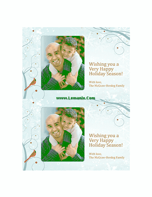 Free Holiday Photo Cards 03