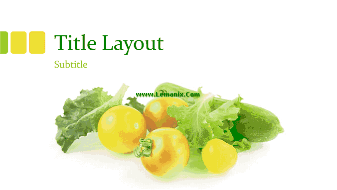 Fresh Vegetables And Fruits Powerpoint Themes 03