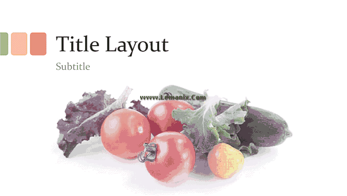 Fresh Vegetables And Fruits Powerpoint Themes 04