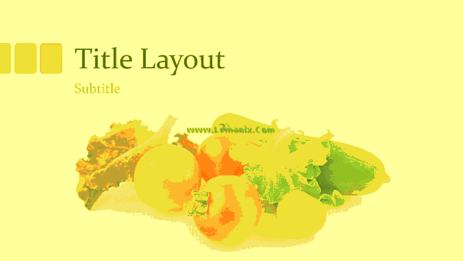 Fresh Vegetables And Fruits Powerpoint Themes 05