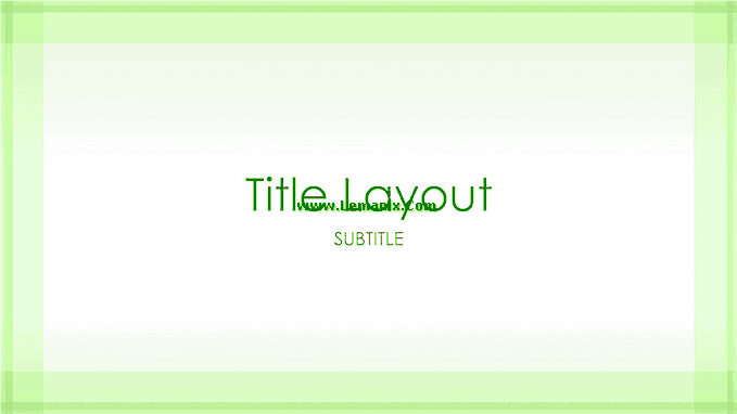 Green Border Powerpoint Themes 03