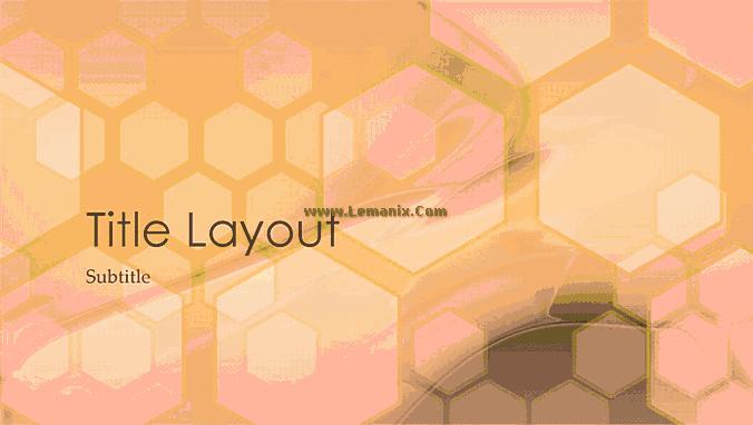 Hexagonal Powerpoint Themes Design 02