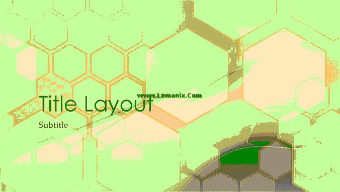 Hexagonal Powerpoint Themes Design 03