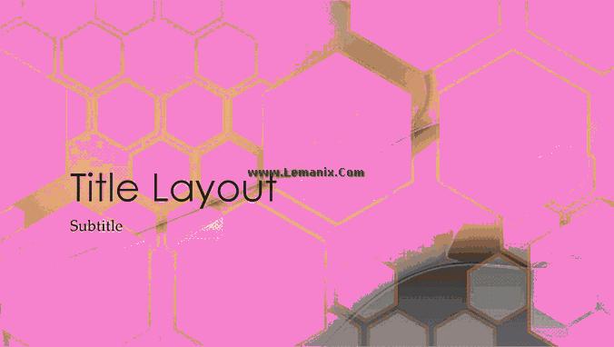 Hexagonal Powerpoint Themes Design 06