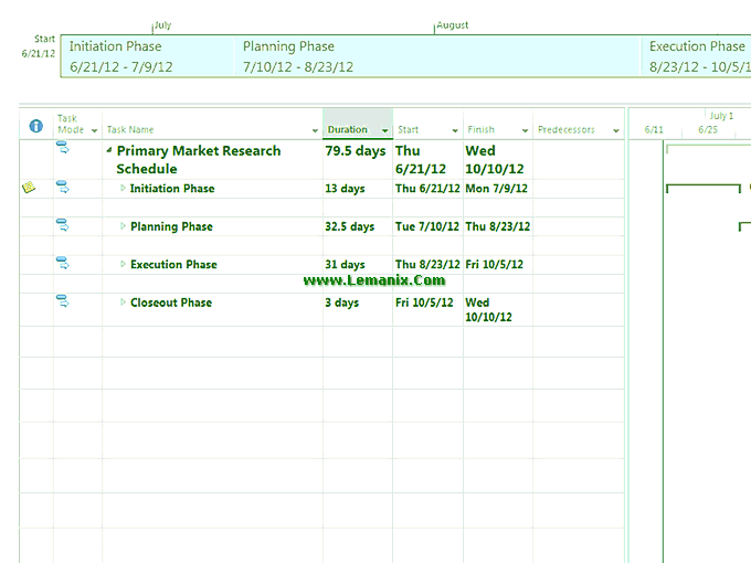 Market Research Schedule Project Management Template 03