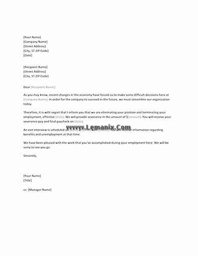 Layoff letter ordekeenfixenergy layoff letter spiritdancerdesigns Gallery