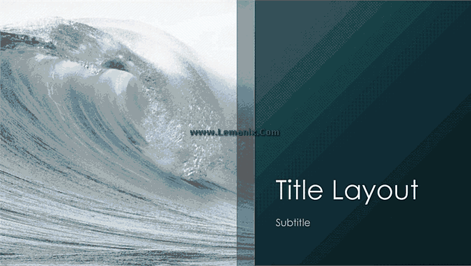Ocean Waves Powerpoint Themes 01
