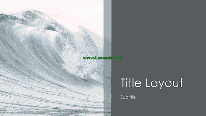 Ocean Waves Powerpoint Themes 02