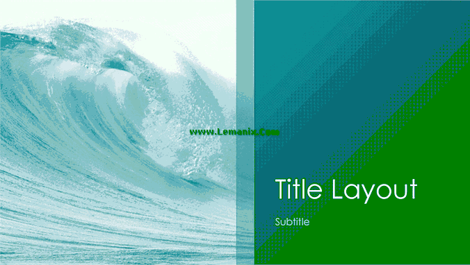 Ocean Waves Powerpoint Themes 03