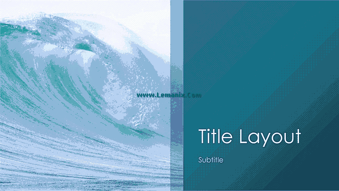Ocean Waves Powerpoint Themes 04