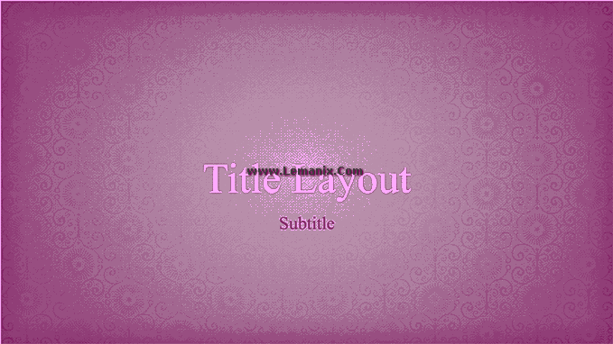 Powerpoint Themes Pink Flower 06