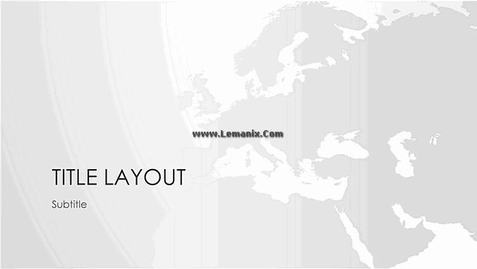 Powerpoint Themes World Maps European Series 01