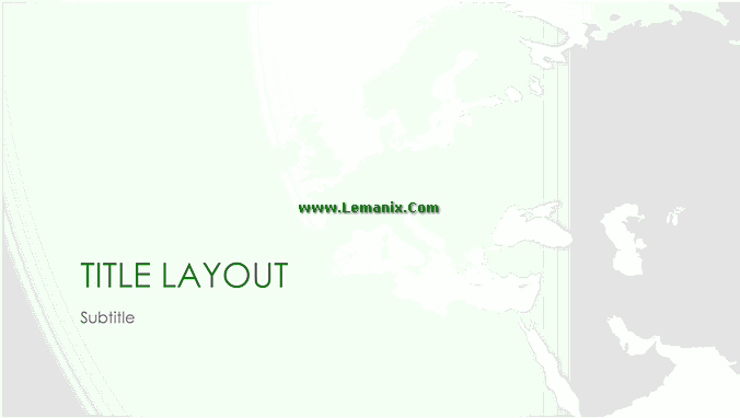 Powerpoint Themes World Maps European Series 03