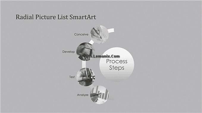 Process Smartart Free Powerpoint Backgrounds 01