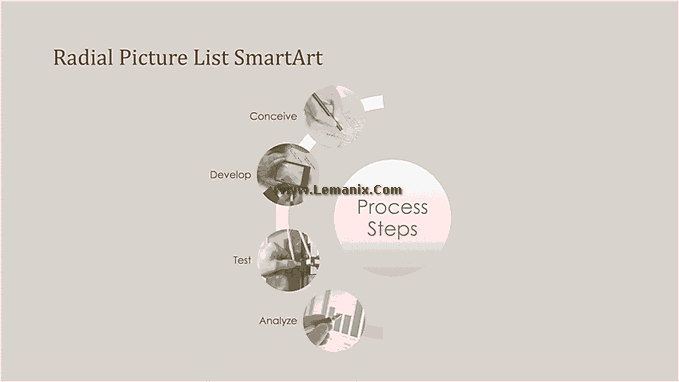 Process Smartart Free Powerpoint Backgrounds 02