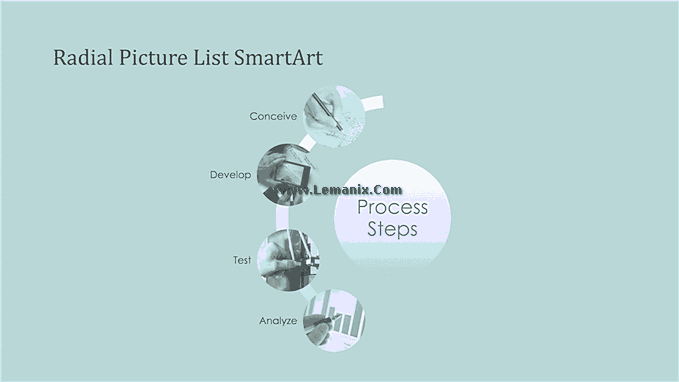 Process Smartart Free Powerpoint Backgrounds 04