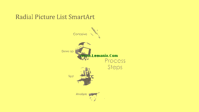 Process Smartart Free Powerpoint Backgrounds 05