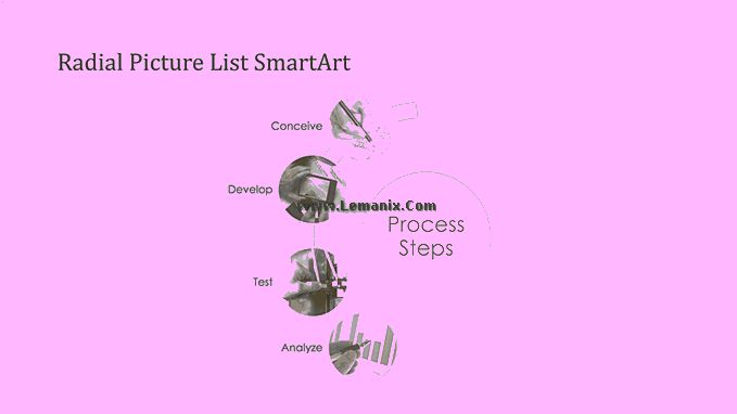 Process Smartart Free Powerpoint Backgrounds 06