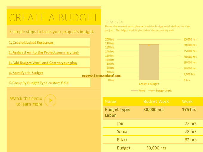 Professional Project Budget Template 05