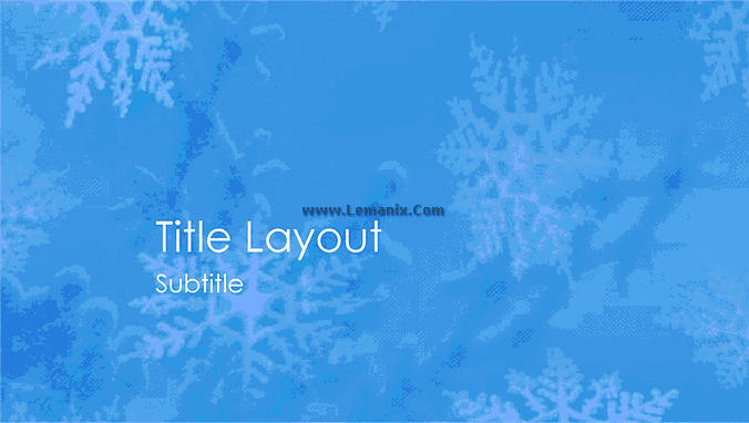 Snowflakes Design Powerpoint Themes 04