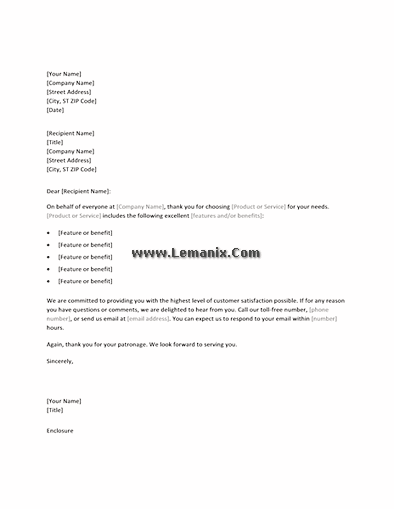 Thank You Letter Templates For New Customers 02