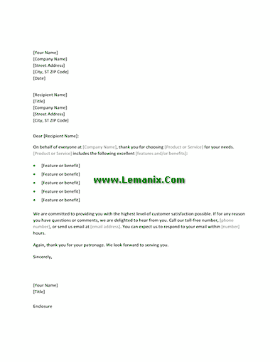 Thank You Letter Templates For New Customers 03