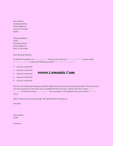 Thank You Letter Templates For New Customers 06